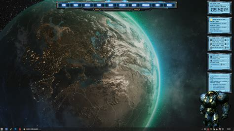 Rainmeter Animated Wallpaper - rainmeter starcraft animation desktop 2016 by