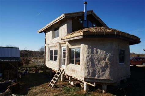 Used Staircase For Sale by Timber Frame Straw Bale Tiny House For Sale
