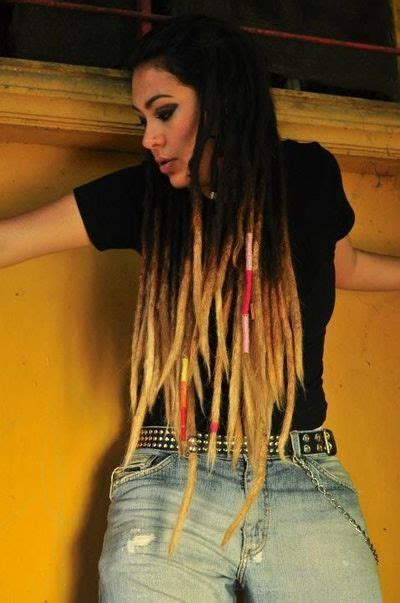 ombre dreads hair colors ideas