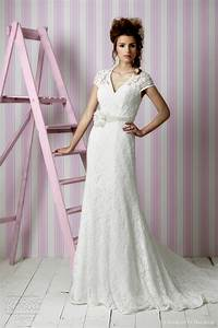 striking collections of vintage lace wedding dresses with With vintage cap sleeve wedding dress