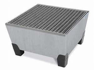 200 Liter Fass Kunststoff : auffangwanne aus stahl mit gitterrost verz f r 1 fass a 200 l ~ Frokenaadalensverden.com Haus und Dekorationen