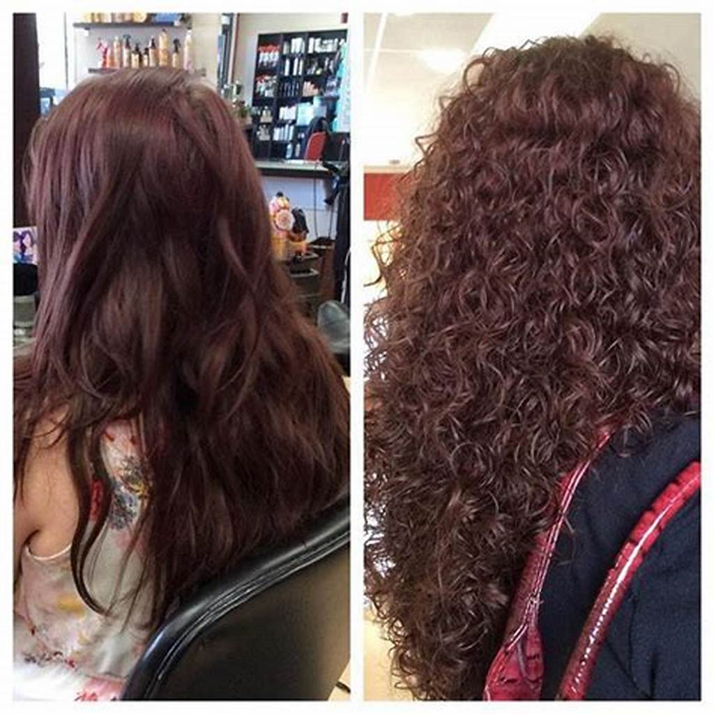 #Very #Pretty #Spiral #Perm #Before #And #After