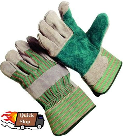 seattle glove double leather green palm p