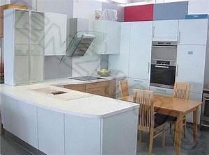Küche U Form Mit Theke : l k che sch ller k che front eisblau geschwungene fronten ~ Michelbontemps.com Haus und Dekorationen
