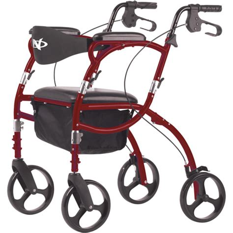 rollator walker transport chair combo get the hugo navigator combination rolling walker