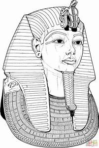 Egyptian coloring pages tutankhamun death mask coloring for King tut mask template