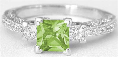 Vintage Princess Cut Peridot And Princess Cut Diamond Ring In 14k White Gold. (gr-3111 Antique Gold Crown Molding Antiques Pool Hall Colorado Springs Hours Remember When And Gifts Pickens Sc Small Mirrors Uk In Co Harbour View Stamford Ct Richmond Coffee Table Walnut Harbor Center