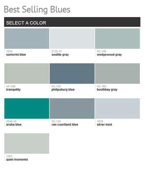 benjamin moore best selling blues color paint