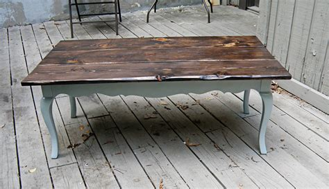 Before & After Oversized, Rustic Coffee Table Redo