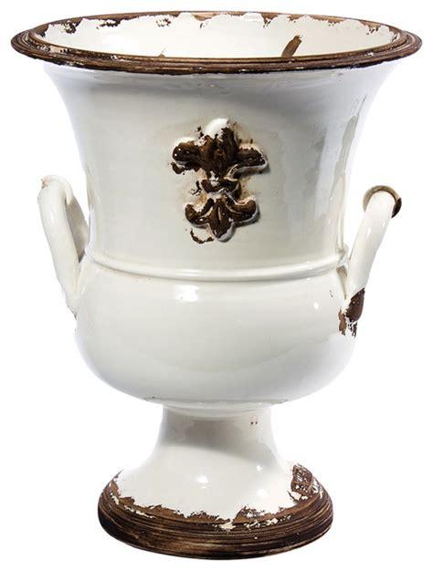 Large White Vase by Pompei Large White Vase Shabby Chic Vases By Intrada