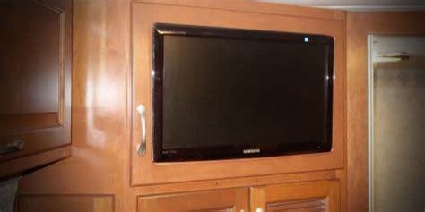 bedroom tv custom fit   brand rv wood design
