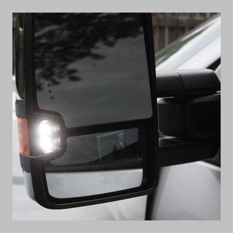 chevy gmc yukon tahoe tow mirrors chrome powerled
