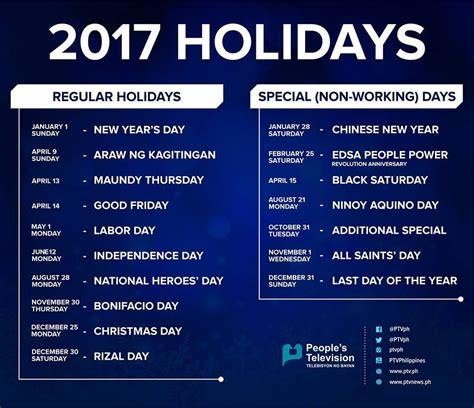 philippine holidays jobsearchatphilippines