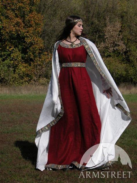 medieval franks dress  underdress set natural flax