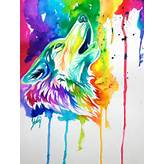 Colorful Wolf by Lucky978 on DeviantArt