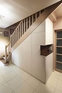 Placard Escalier : placard sous escalier sur mesure paris nantes vannes lorient meuble sous escalier walk in ~ Carolinahurricanesstore.com Idées de Décoration