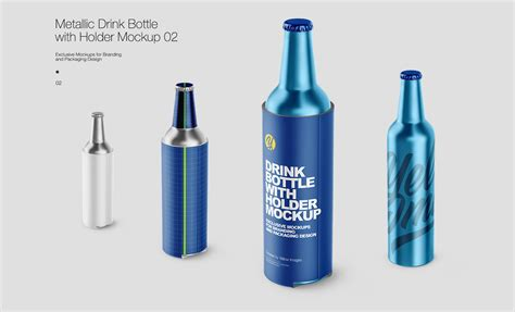 Showcase your label and branding design in style with this clean mock up. Free PSD-mockups | Metallic Drink Bottles on Behance