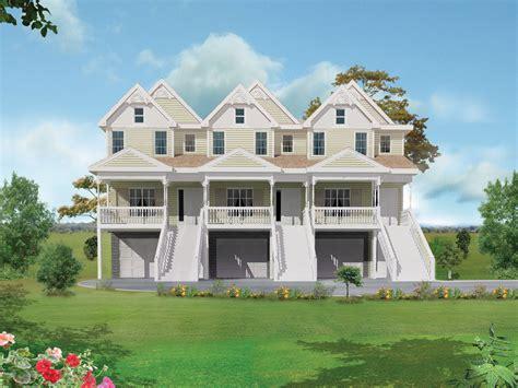 Multi Family House : Marydel Multi-family Triplex Plan 026d-0146