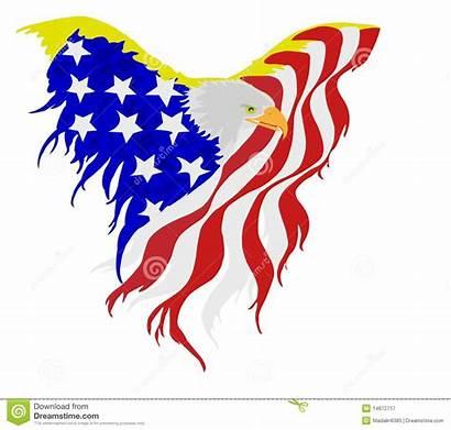 Eagle Flag American Bald Clipart Vector Clipground