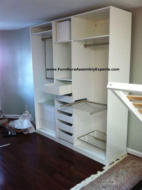 ikea pax wardrobe with no doors assembled in washington dc