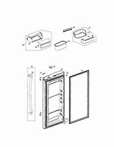 Refrigerator Right Door Diagram  U0026 Parts List For Model