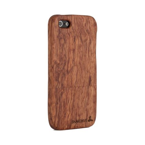 iphone 5s wood snakehive 174 real solid wooden cover for apple iphone 5