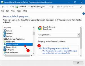 2 Ways to Set Google Chrome as Default Web Browser in ...