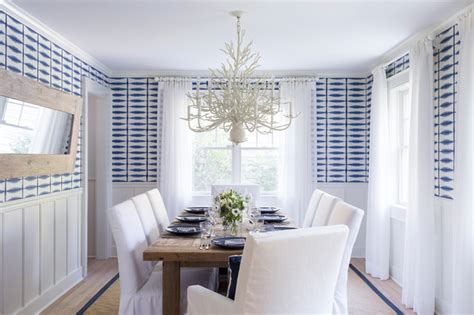 east hampton beach cottage beach style dining room