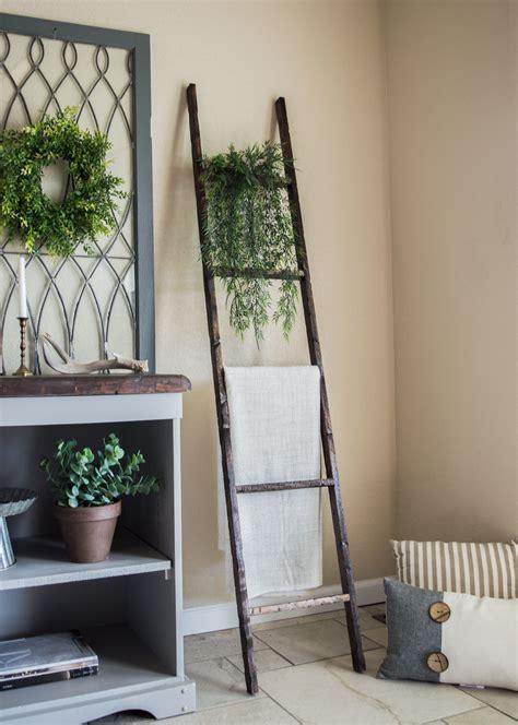 handmade rustic wooden ladder home decor wooden ladder