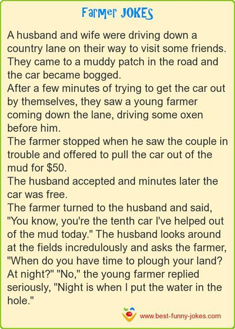 farmer jokes wife husband shappley kimberly funny