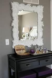 Miroir Blanc Baroque : le miroir baroque est un joli accent d co ~ Teatrodelosmanantiales.com Idées de Décoration