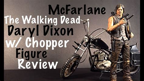 Mcfarlane The Walking Dead Deluxe Daryl Dixon With Chopper