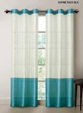 striped turquoise and white curtain curtains