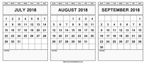 editable july august september  calendar june