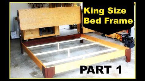 diy king size bed frame part  youtube