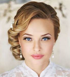 Maquillage De Mariage : coiffure et maquillage mariage coiffure facile pour ~ Melissatoandfro.com Idées de Décoration