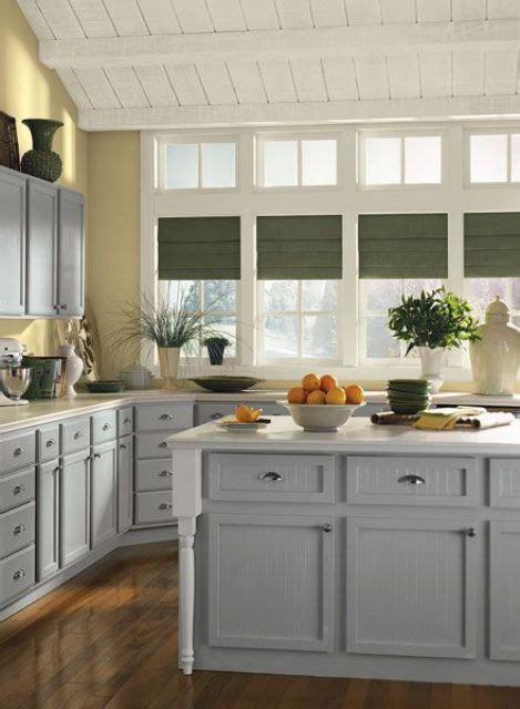 bright grey  yellow kitchen decor ideas digsdigs