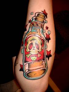 Gallery For > Traditional Alcohol Bottle Tattoo