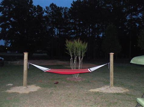 ft hammock     treated wood posts