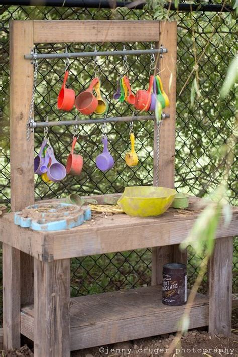 fun outdoor mud kitchens  kids garden ideas
