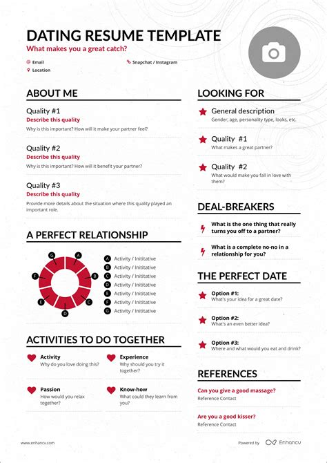 Resume About Me by Sick Of Dating Apps See How The Dating Resume Might
