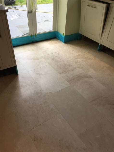 Travertine Floor Cleaning Machines by Lustre Restored To Large Area Of Travertine Tiles In