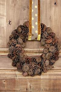 Larissa, Another, Day, Pine, Cone, Wreath, With, Gold, Sash