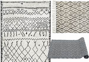 ou trouver un tapis noir et blanc joli place With tapis blanc pas cher