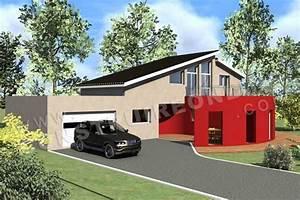 plan de maison moderne panoramix With plan facade maison moderne