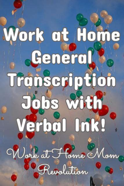 transcription at home verbal ink hiring work at home general transcriptionists transcription revolutions and ink