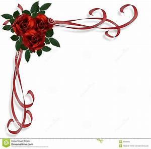 Red Roses Border Wedding Invitation Stock Illustration ...
