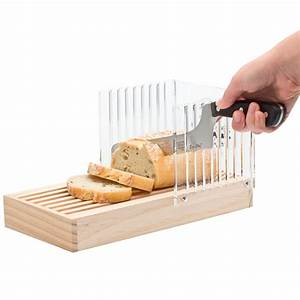 Wood Bread Slicer Guide Kitchen Tool Loaf Toast Cutter