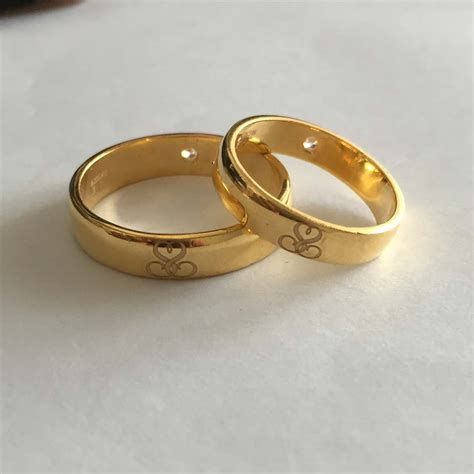 you and me name engraved rings