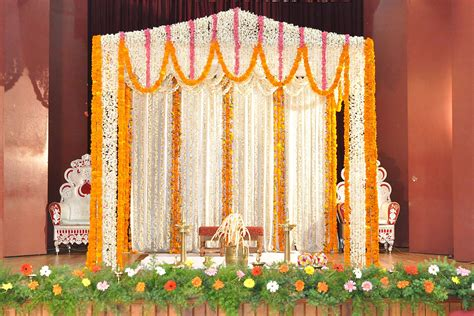 simple wedding stage decoration  flowers